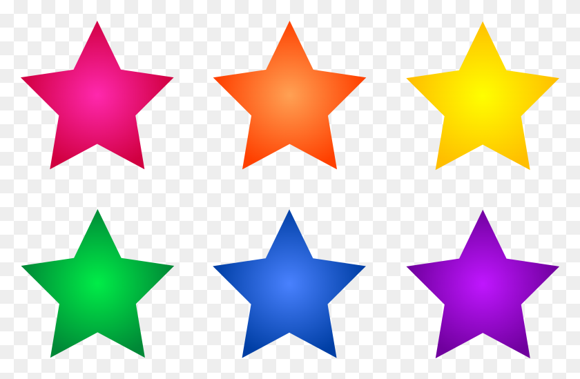 Clip Art Of Stars - Gold Stars PNG