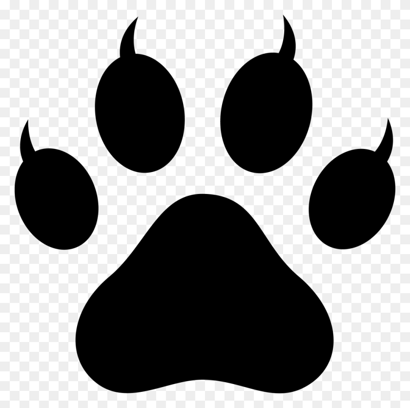 Footprint Clipart Cougar - Blue Cougar Paw , Free Transparent Clipart -  ClipartKey