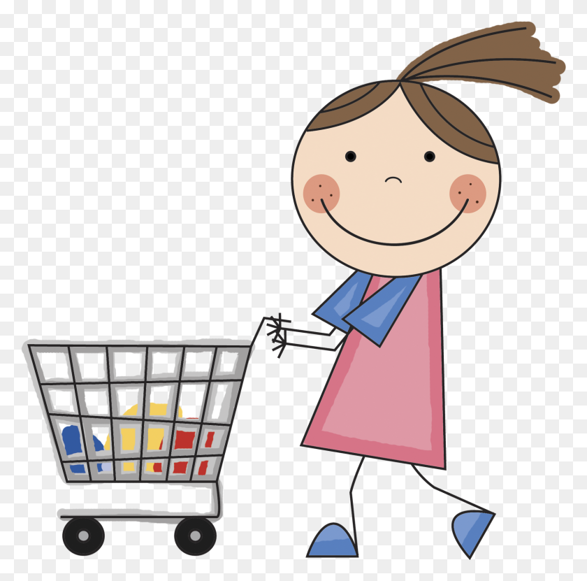 Clip Art Shopping List Clipart - Food Cart Clipart