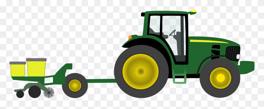 Clip Art Tractor Clipart Image Farmer On Tractor Plowing - Plow Clipart