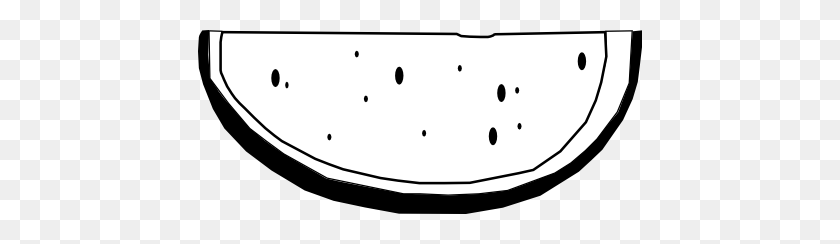 Clip Art Watermelon Black White Food Clipartist - Watermelon Black And White Clipart