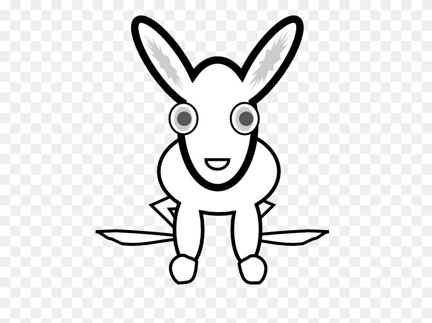 Clip Art White Rabbit Black White Line Animal - March Clip Art Black And White