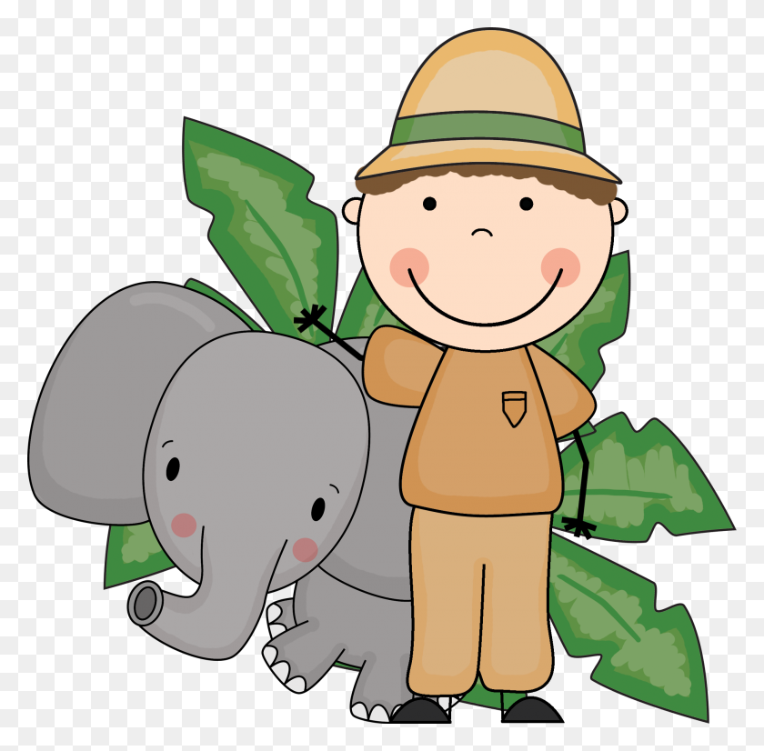 Clip Art Zoo Keeper - Zoo Animals Clipart