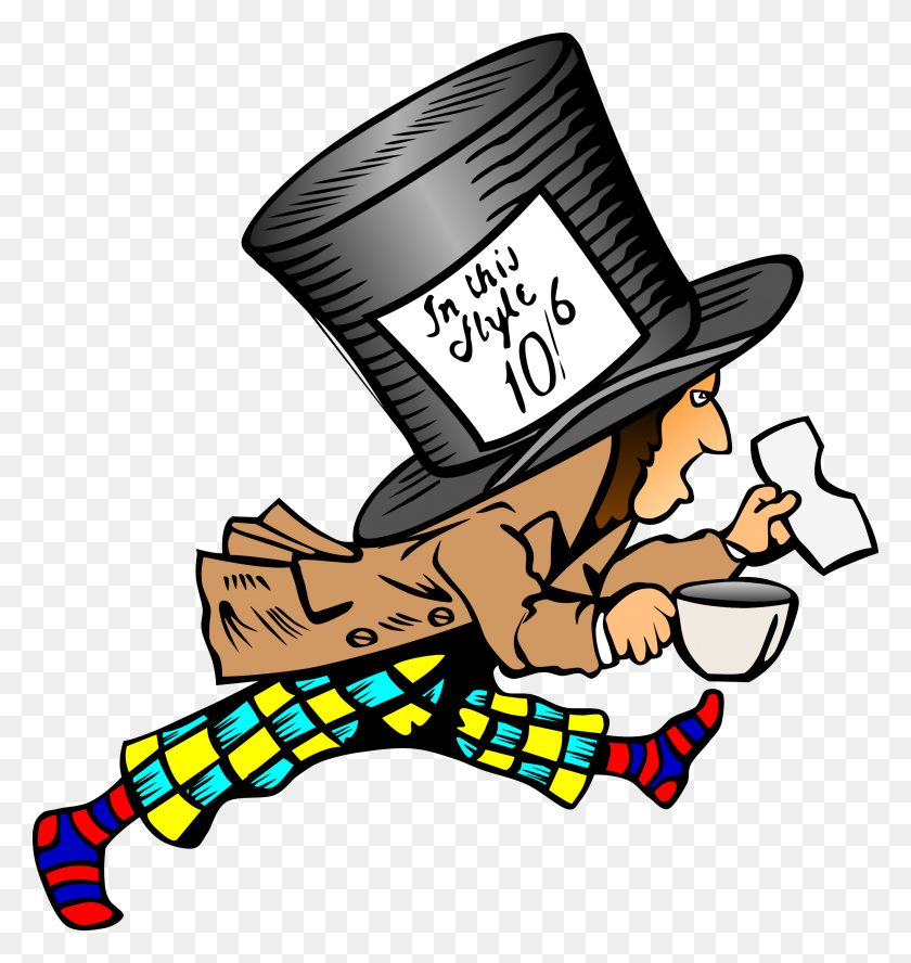 Clipart - Mad Hatter Hat Clipart