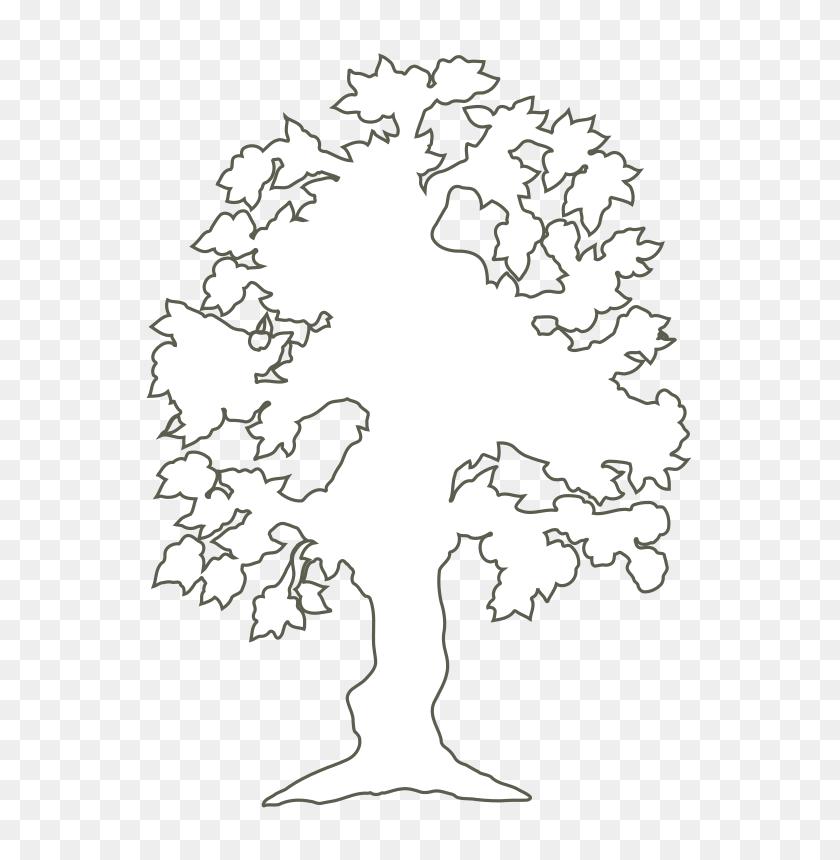 Clipart - Oak Tree Silhouette PNG
