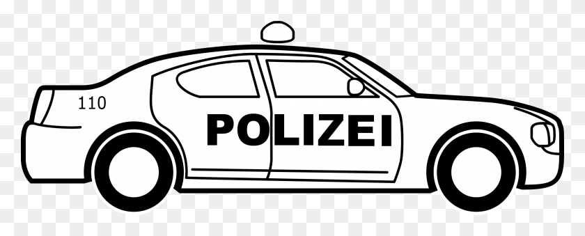 2400x860 Clipart - Police Car Clipart