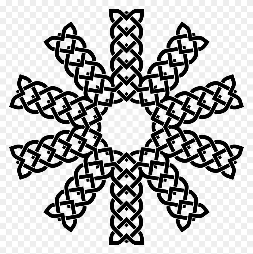 2270x2278 Clipart - Mandala Clipart