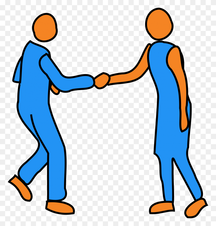 Clipart - Shaking Hands PNG