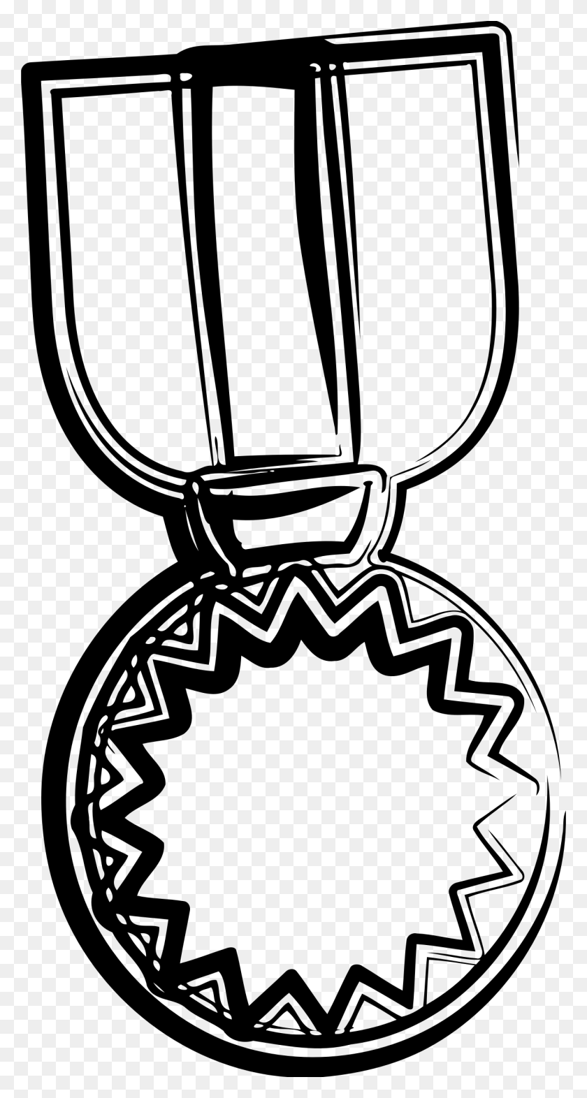 Clipart - Medal Clipart Black And White