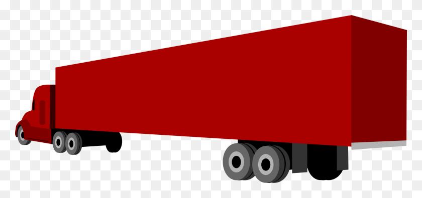 Clipart - Truck And Trailer Clip Art