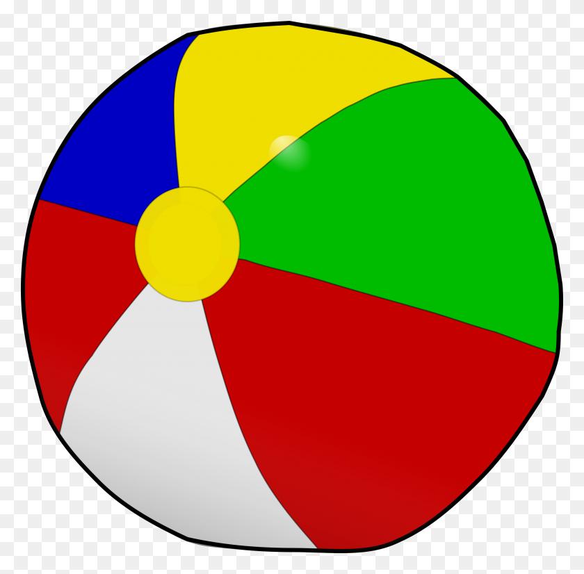 2400x2358 Clipart - Beach Ball Clipart PNG
