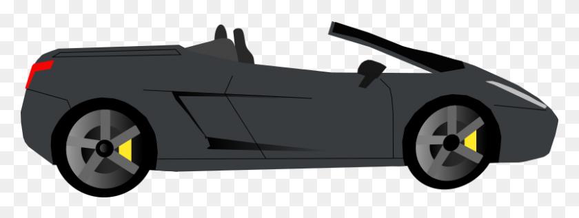 800x264 Clipart - Black Car PNG