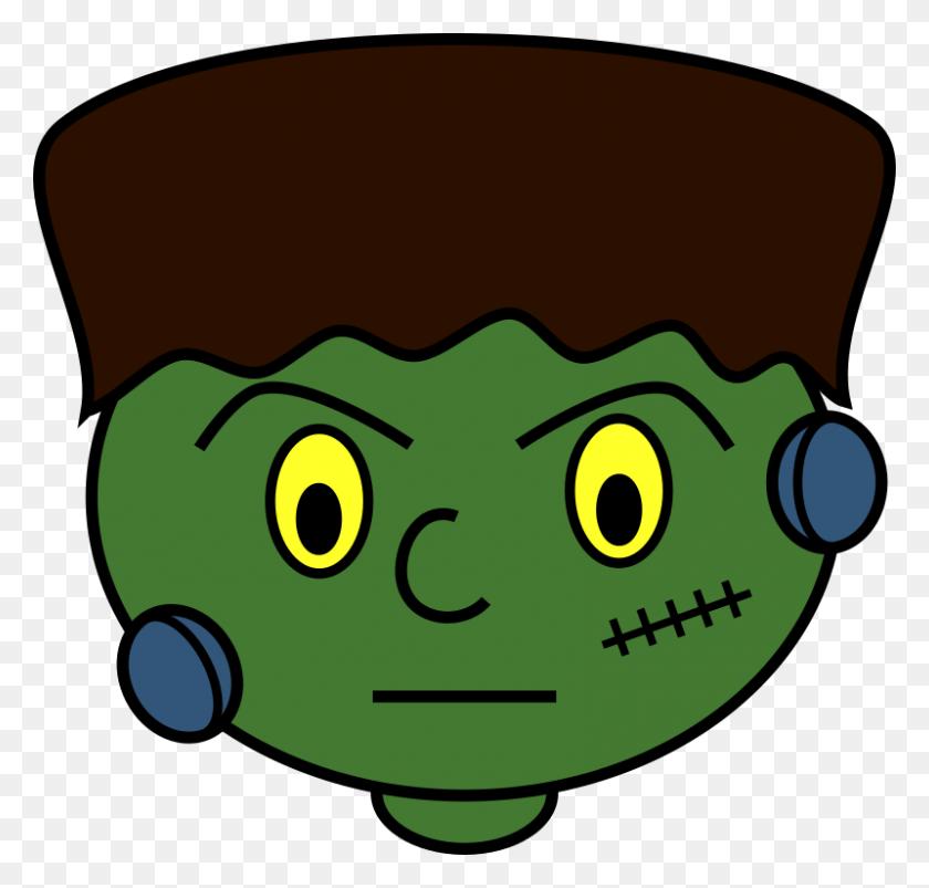 Clipart - Frankenstein Head Clipart