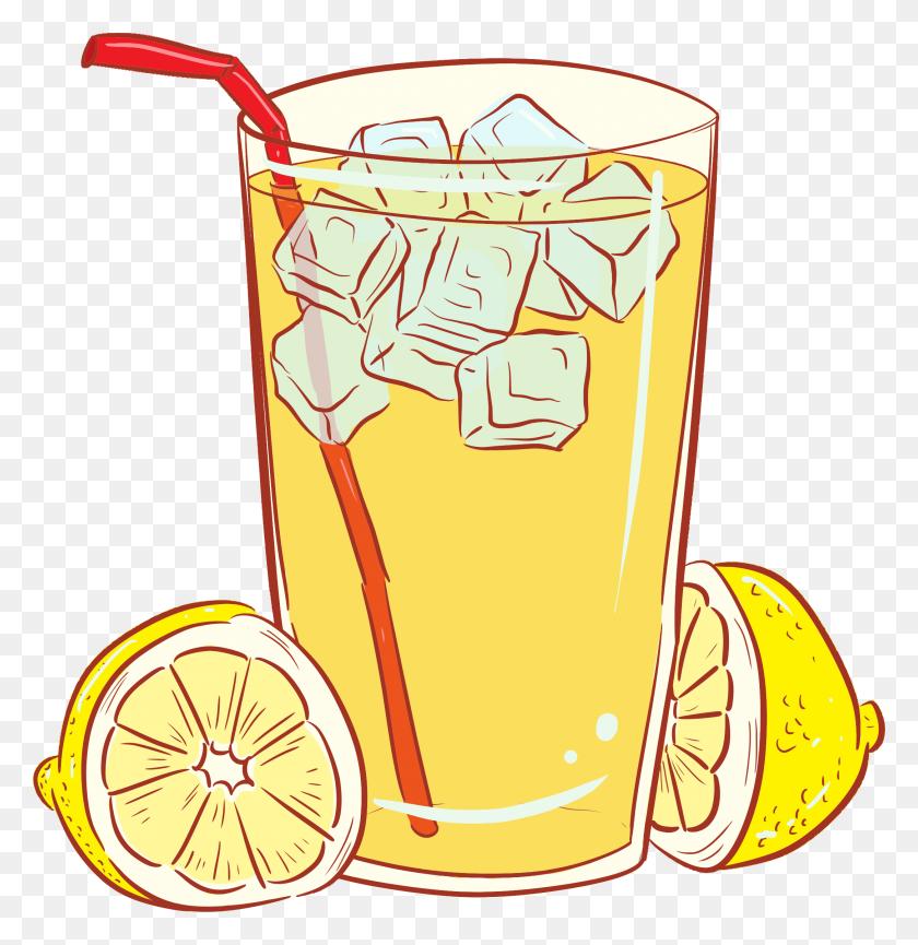 2171x2241 Clipart - Glass Of Lemonade Clipart