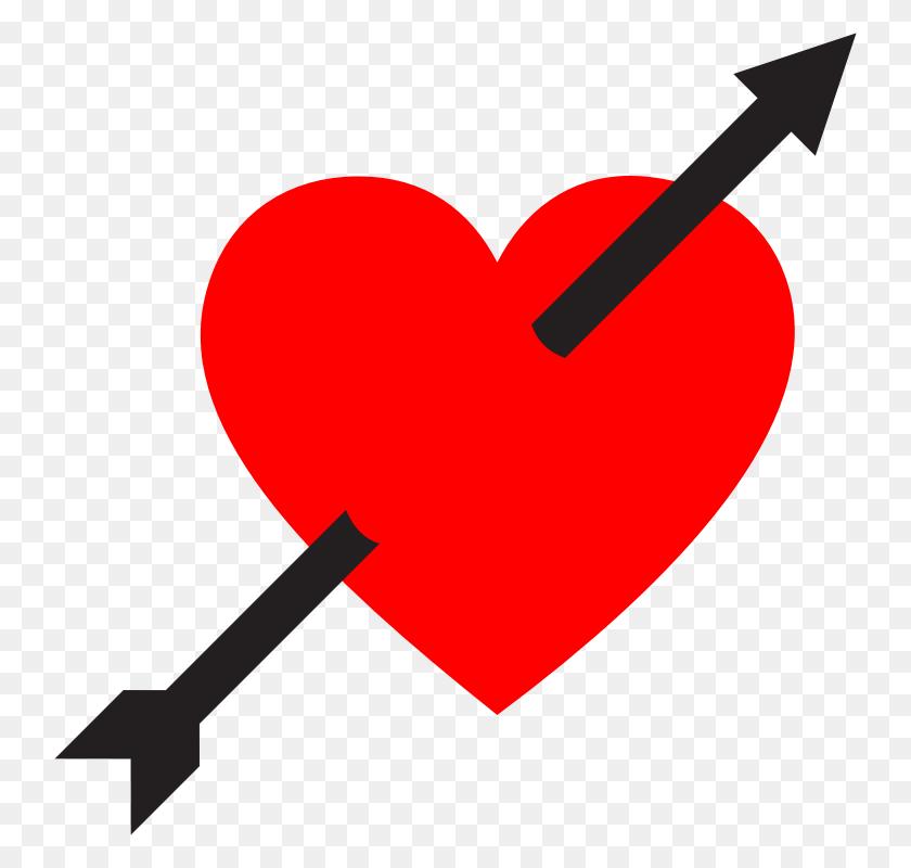 Clipart - Heart With Arrow Clipart