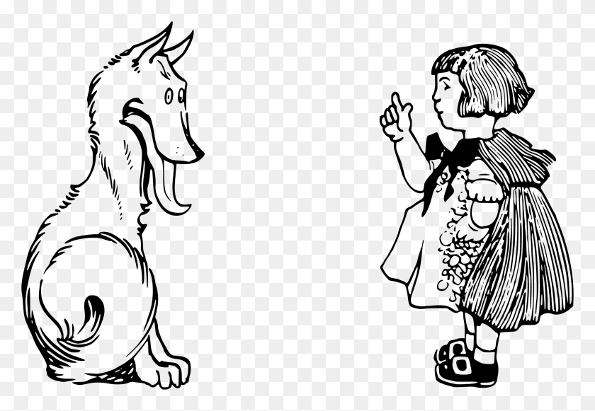 Clipart - Little Red Riding Hood Wolf Clipart
