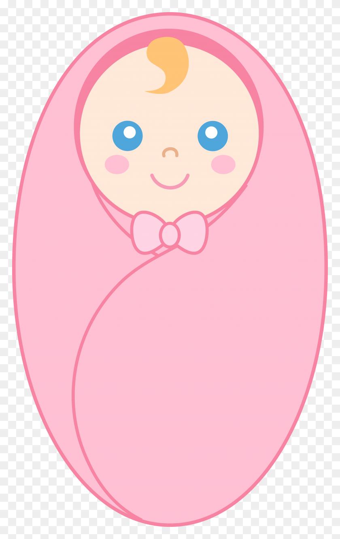Clipart Baby Girl - Peach Clipart