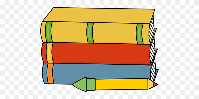 Free Books Border Clip Art with No Background - ClipartKey