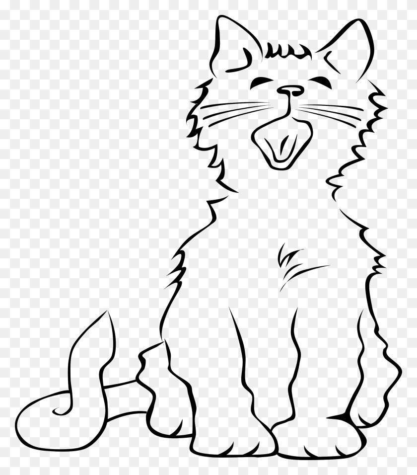 2089x2400 Clipart Cat Crying - Sad Cat Clipart