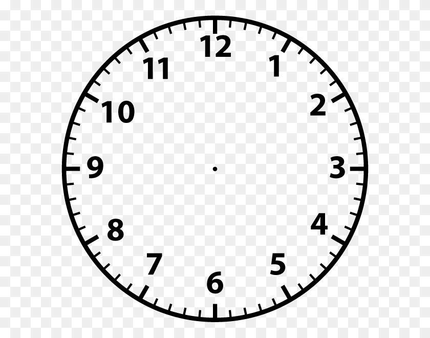 600x600 Clipart Clock Face - Free Clock Clipart