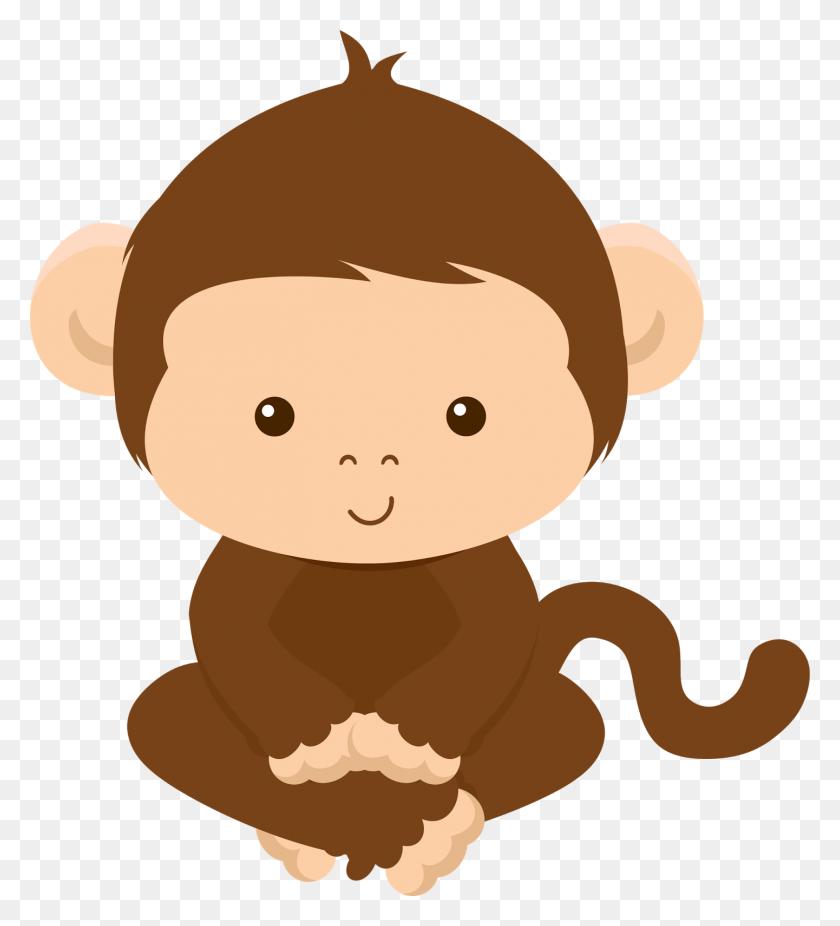 Clipart De Animales De La Selva Doo Party Ideas - Monkey On Tree Clipart