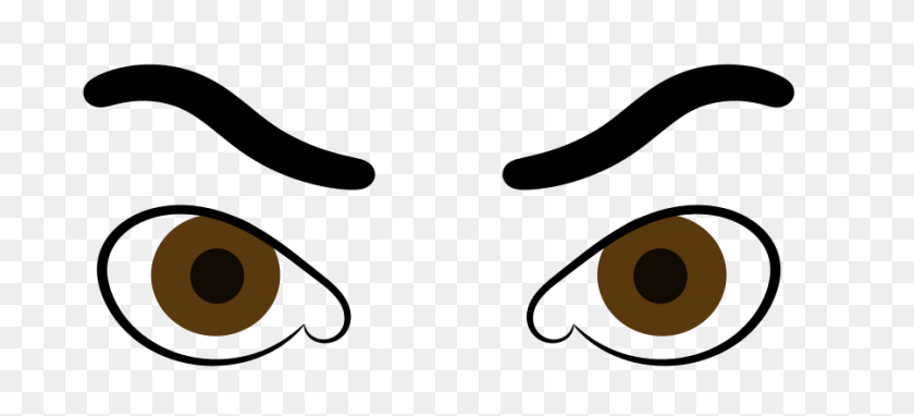 900x372 Clipart Eyes - Looking Eyes Clipart