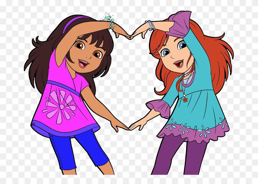 Clipart Friendship Girls Friendship Clipart Transparent - Mma Clipart