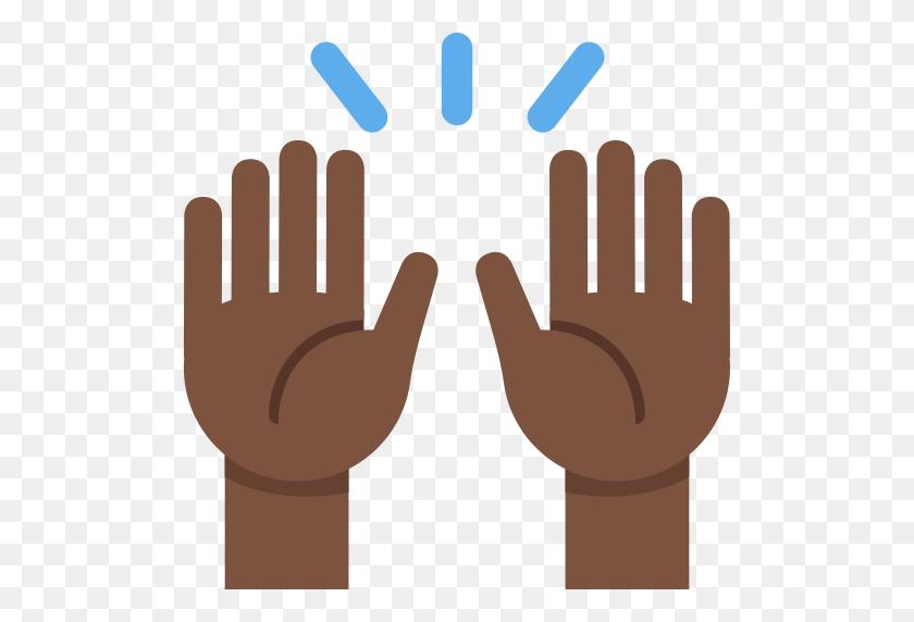 Clipart Hand Emoji Transparent Raised - Raised Hands PNG