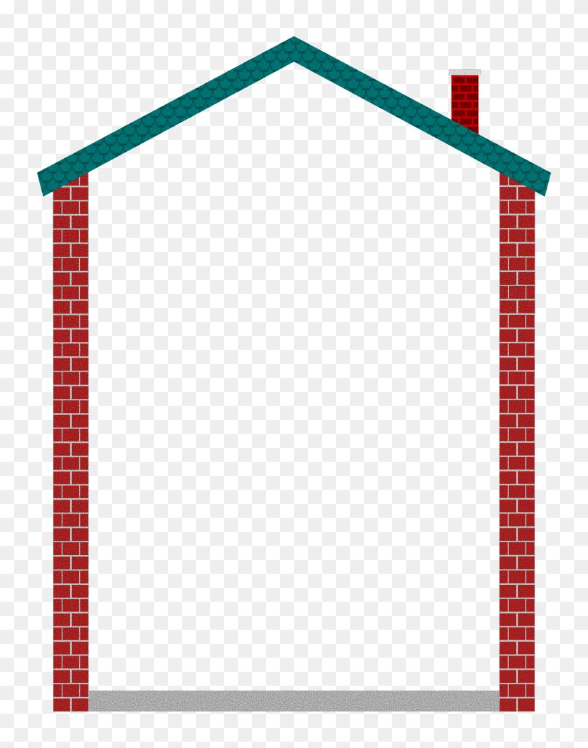 1855x2400 Clipart House Border House Border - Private Clipart