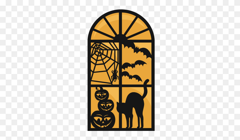 Clipart Of A Halloween Witch Flying On A Broomstick Against Full - Broomstick Clipart