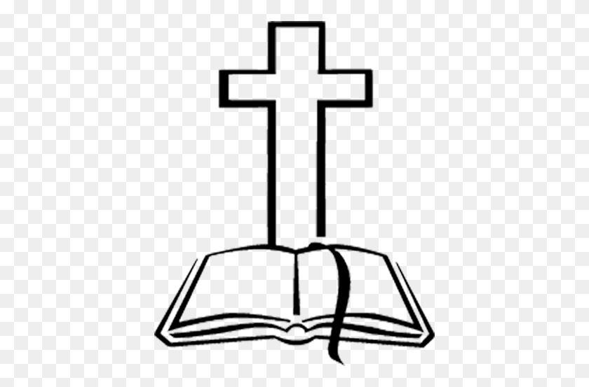 Clipart Of Bibles And Crosses Clip Art Images - Cross With Flowers Clipart