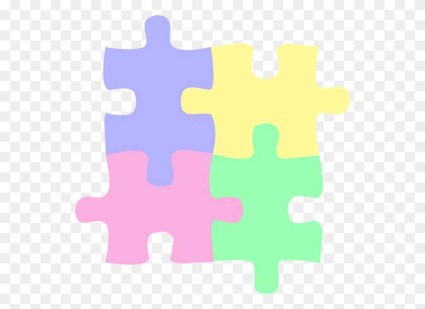 542x550 Clipart Puzzle Pieces Free Vector - Free Clipart Puzzle Pieces