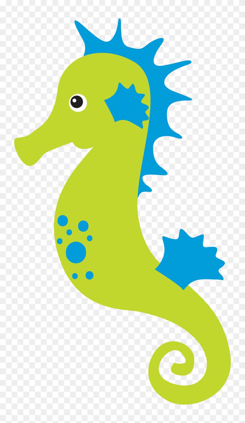 Clipart Sea, Clip Art And Ocean - Seahorse Clipart