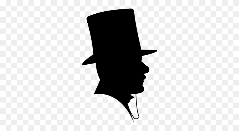 Clipart Silhouette Clipart Free Clipart - Top Hat Clipart