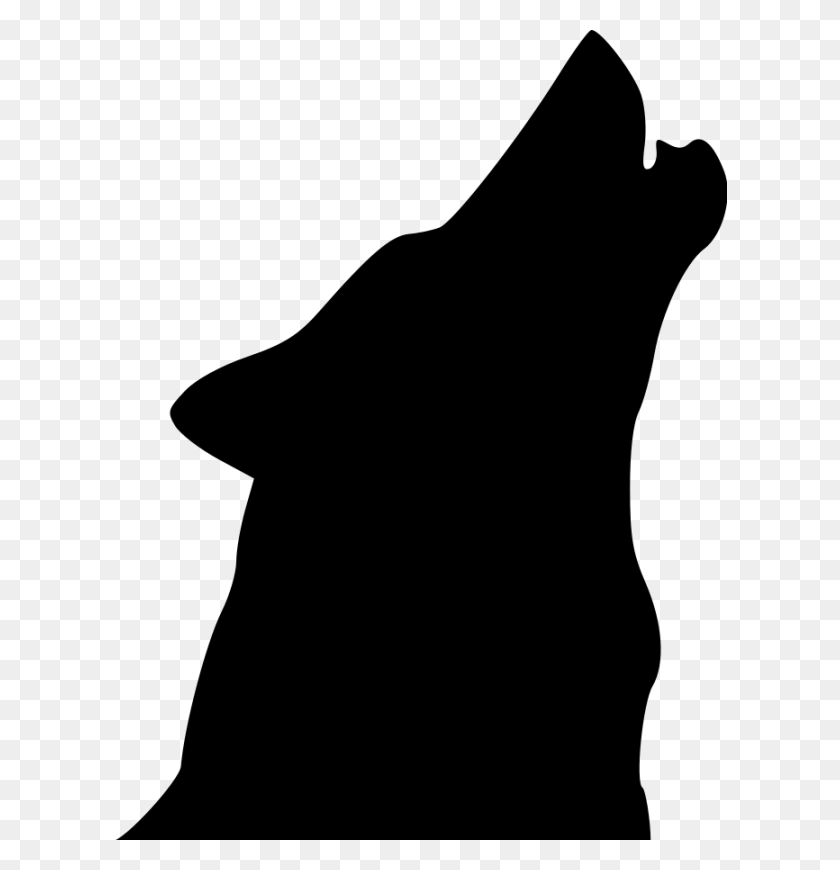 Clipart Wolf Head Clipart Music Clipart Wolf Head Silhouette - Music Clipart Black And White