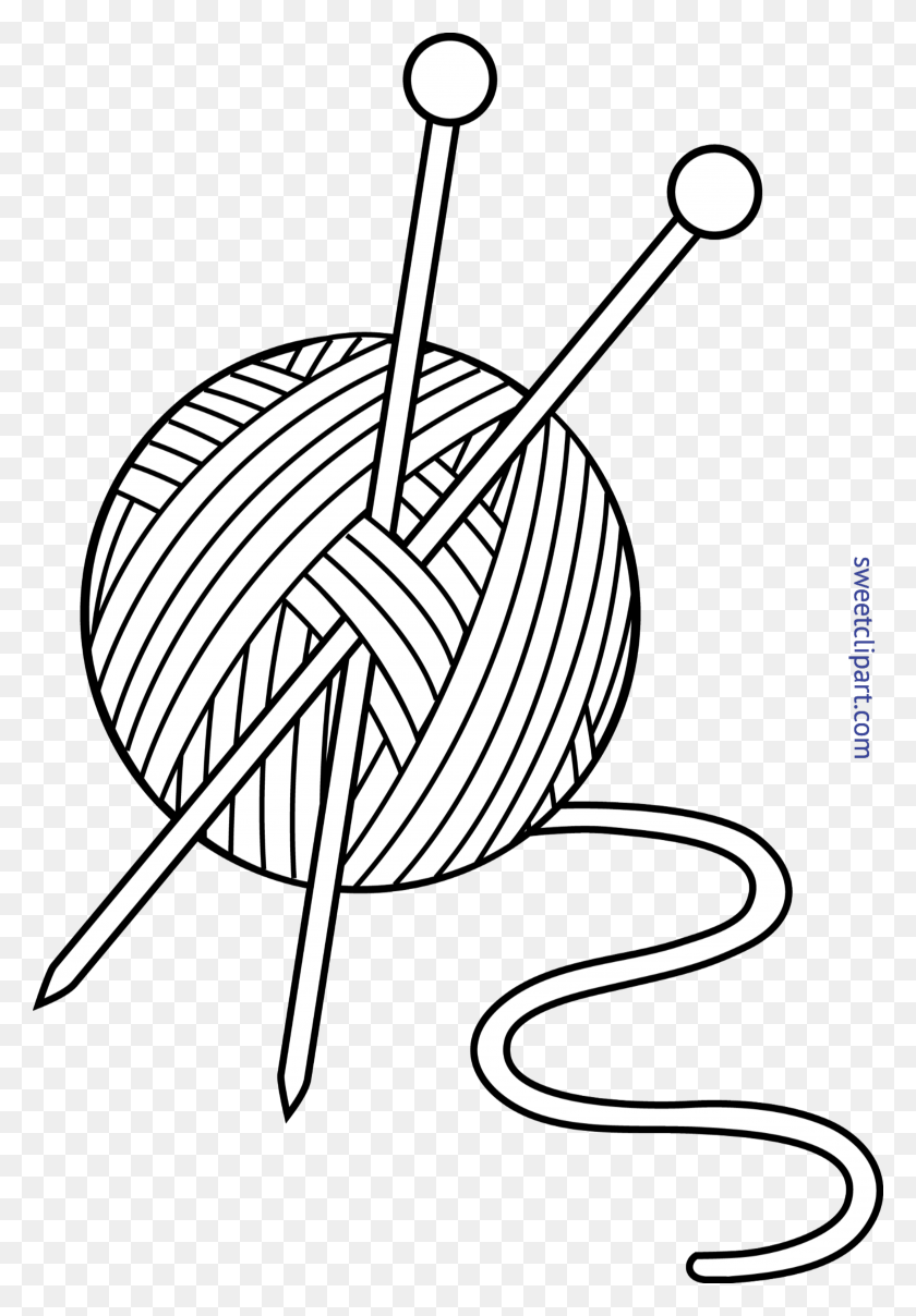 clipart yarn and knitting needles clip art images 292541