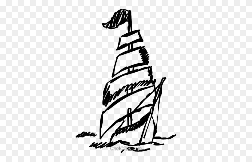 Clipper Sailboat Royalty Free Vector Clip Art Illustration - Sailboat Clipart