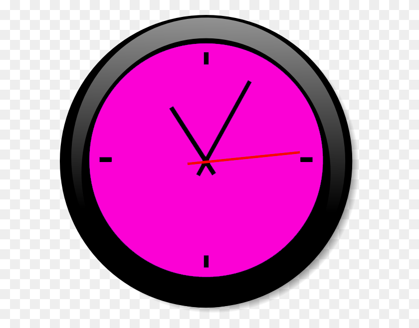 600x598 Clock Pink A Free Images - Free Clock Clipart