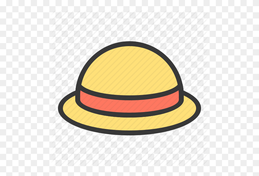 Clothesfilled, Female Hat, Headwear, Straw Hat, Sun Hat, Wear Icon - Straw Hat PNG