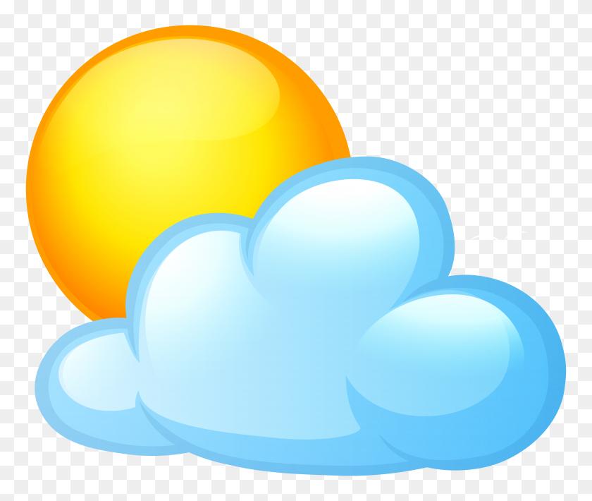 8000x6675 Cloud Clip Art Sunshine - Moon Clipart