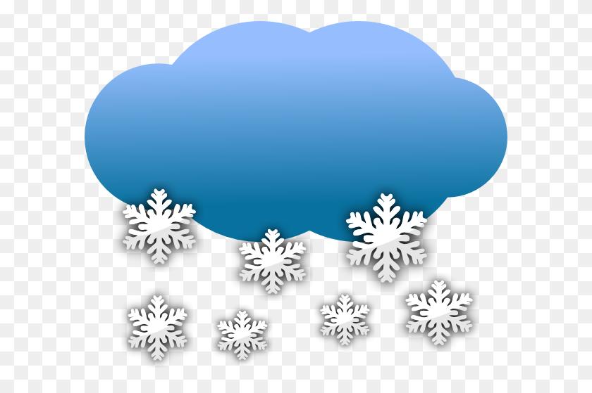 Cloud Clipart Snowing - Snowflakes Falling Clipart
