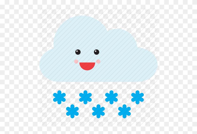 Cloud Emoji Emoticon Face Smiley Snow Weather Icon Cloud