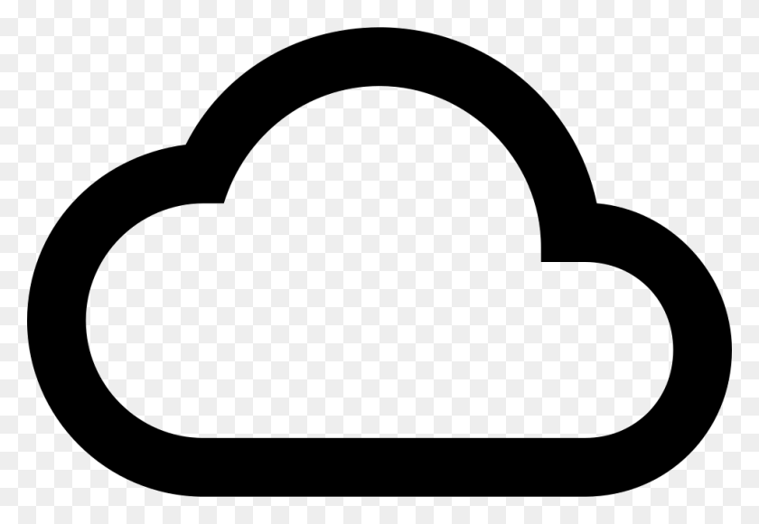 Cloud Outline Png Icon Free Download - Cloud Outline PNG