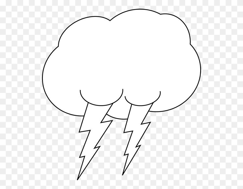 Clouds Clipart Balck White - Meteorologist Clipart