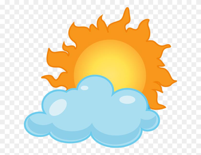 Cloudy Sun Clipart Clip Art Images - Yellow Sun Clipart