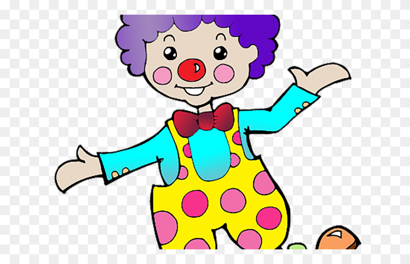 Clown Clipart Tall Clown - Clown Clipart Black And White