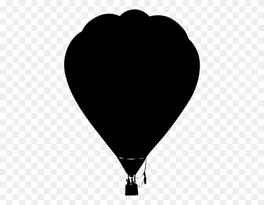 432x595 Clue Hot Air Balloon Outline Silhouette Clip Art Free Vector - Clue Clipart