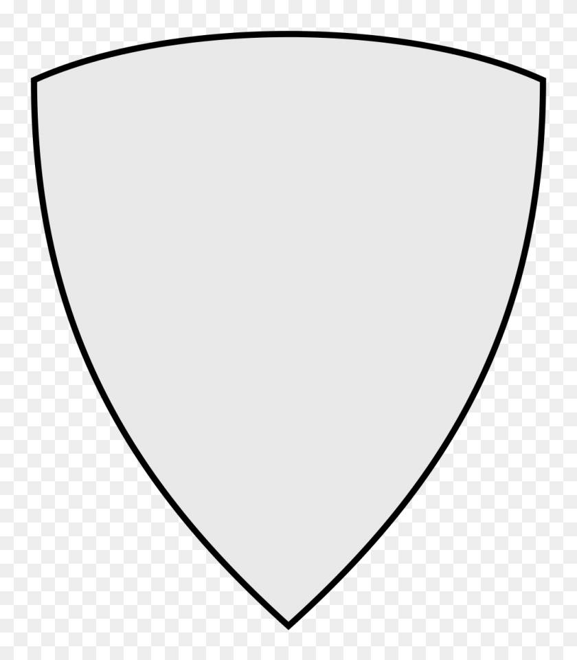 1000x1154 Coa Illustration Shield Triangular - Blank License Plate Clipart