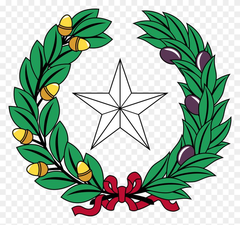Coat Of Arms Of Texas - Texas Star Clip Art