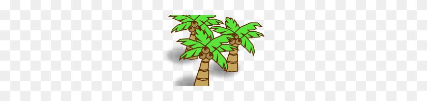 200x140 Coconut Tree Clip Art Cartoon Coconut Trees Coconut Clipart - Tree Cartoon PNG